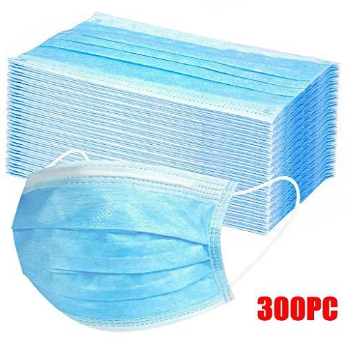 MaNMaNing Protección 3 Capas Transpirables con Elástico para Los Oídos Pack 300 unidades 20200702-MANING-A300