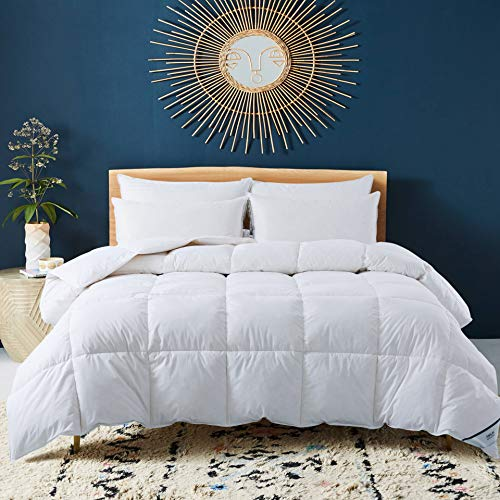 ANALIN Duvet - 13.5 Tog Luxurious Goose Feather & Down Quilt, 40% Down King Size Bed Duvet, 100% Cotton Shell, Anti-dust mite & Feather-proof Fabric Anti-allergen