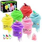 Kidsbay 6 Pack Butter Slime Kit, Unicorn Slime with Scent, Super Soft ,Stretchy DIY Sludge Toy Putty Slime for Girls and Boys Part Favors