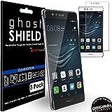 TECHGEAR [3 Piezas Protector de Pantalla Compatible con Huawei P9 Plus [ghostSHIELD] Reforzada...