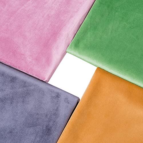 MAGFYLY Tela de terciopelo liso, tela de mantel de cocina y sala de estar, tela de vestido de muñeca (color: amarillo2)
