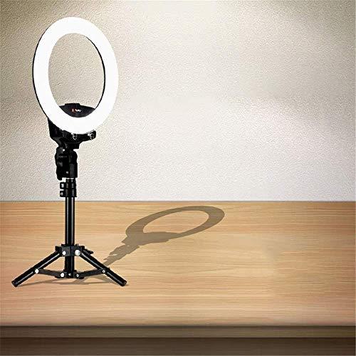 XXzhang Selfie Ring Light Live Room Ring Luz de Relleno Teléfono móvil Fotografía Temporizador automático Espejo Maquillaje Belleza Luz de Relleno 10 Pulgadas Negro Usado para Video Clip Selfie (Col