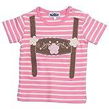 Camiseta de idumentaria típica a Rayas Rota para bebé con Apliques de Tirantes. Talla 98