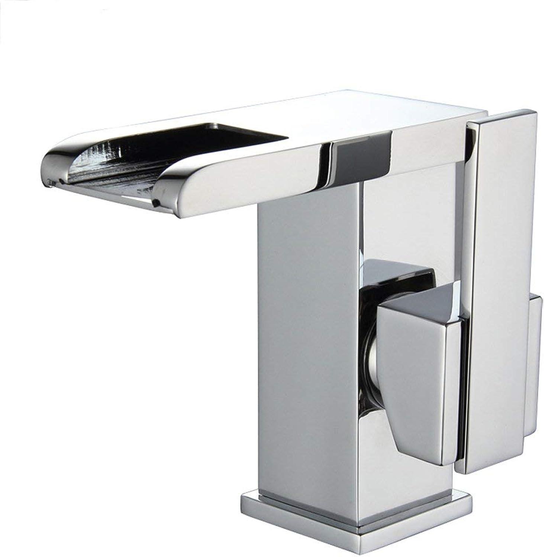 SCJS Wasserhahn Wasserhahn Badezimmer Farbwechsel Temperaturregelung Einlochmontage Kupfer Mode Einfache Idee