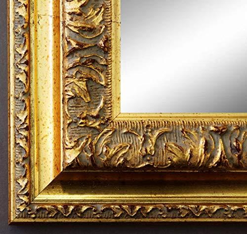 Online Galerie Bingold Spiegel Wandspiegel Badspiegel Flurspiegel Garderobenspiegel - Über 200 Größen - Rom Gold 6,5 - Außenmaß des Spiegels 50 x 70 - Wunschmaße auf Anfrage - Antik, Barock