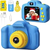 Desuccus Kids Camera HD 1080p Video Digital Camera for Kids Birthday Gift for 3-8 Year Old Boys and...
