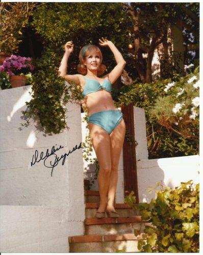 Debbie Reynolds in bikini hand-signed 8 x 10 photo C of A Glamour shot #2