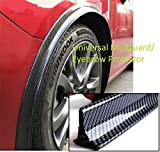 PRIKNIK Carbon Finish Fender Rubber Stickon Car Kit Decorative Protector Trim Universal Fitment