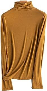 Howely Women Oversized Wild Fall Winter Knit Blouse Turtleneck Blouse T-Shirt