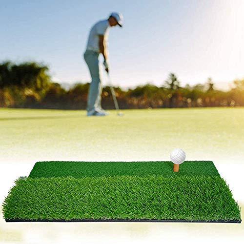 YOMERA Alfombrilla de Golf, (60x30cm) Alfombrilla de práctica de Golf Alfombrilla de Golf para práctica de Golf de Doble Superficie para Uso en Interiores y Exteriores con Camiseta de Goma