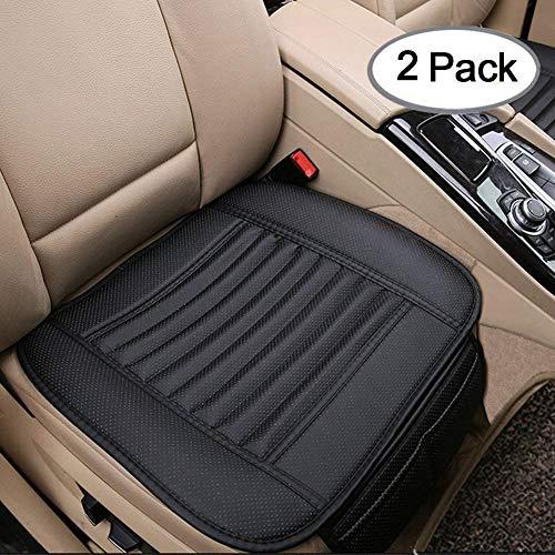 Big Ant Sitzauflagen Auto Sitzbezüge Auto Sitzkissen Auto Vordersitz Kissen mit PU Leder Perfekt für die meisten Fahrzeuge Universale Größe (schwarz,2-Stück)