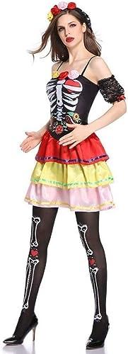 Fashion-Cos1 Halloween Geist Braut d n kostüme sexy Klassische k gin Kleid Vampir Hexe Knochen Cosplay Erwachsene Hexe Anime Spielen (Größe   M)