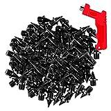 Bobin Picos de Campo Traviesa de Material de Aluminio de Carbono de 100 Piezas con Llave de PúAs, Picos de Pista de Repuesto para Zapatos para Correr