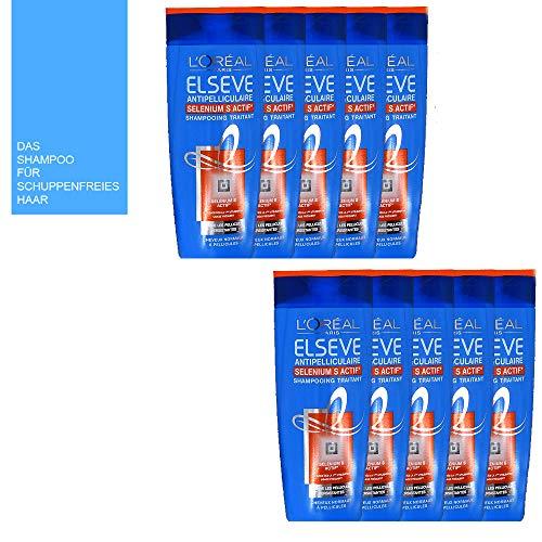 11tlg. STUDIO.MUNET SET: 10x250ml Loreal Paris Elvital Elseve Anti Schuppen Shampoo Selenium S Aktiv + Aufbewahrungssäckchen von STUDIO.MUNET