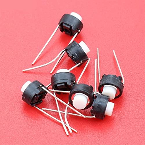 Jgzwlkj Interruptores de botón Botón de Interruptor táctil de 10 unids 6 * 6 * 5 mm Dip 6x6x5 mm Tacto Tacto Pulsador Micro Interruptor Meso