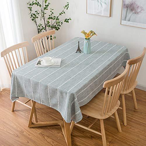 CYYyang Cubierta de Mesa de Simples Adecuado para la decoración de cocinas caseras, Varios tamaños Rayas Frescas de algodón y Lino Color Liso