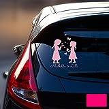 ilka parey wandtattoo-welt Autotattoo Heckscheibenaufkleber Fahrzeug Sticker Aufkleber Baby Schneeprinzessin Kinder M1872 - ausgewählte Farbe: *pink* ausgewählte Größe: *M - 18cm breit x 25cm hoch*