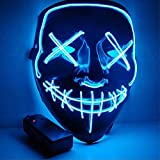 Sinwind Maschera LED Halloween la Maschere Halloween Maschera LED Light Up Maschera LED Illumina la...