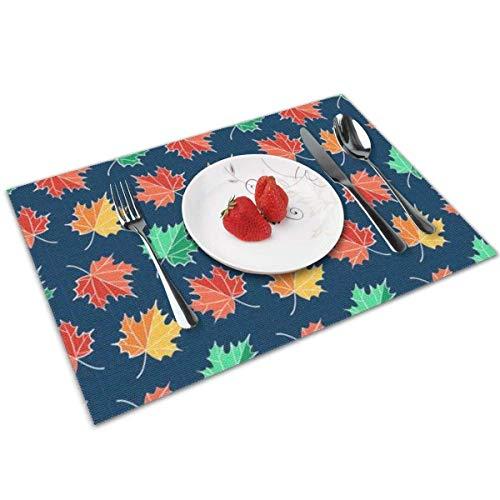 Placemats voor de eettafel wasbare placemats hittebestendige antislip placemats groene bladeren