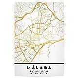 artboxONE Poster 45x30 cm Städte Malaga Spain Street MAP