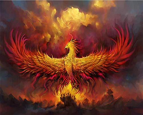 YDANH Puzzle View 1000 Pieces Puzzle for Adults Educational Toys Children Cool Wooden Puzzles Decorative Gift —Burning phoenix-1000