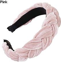 QUUY Velvet Hairband para Mujeres Damas, Diadema Trenza de Color sólido Hair Loop Headwear Accesorios para el Cabello Femenino Accesorios de Cabello con Rayas clásicas