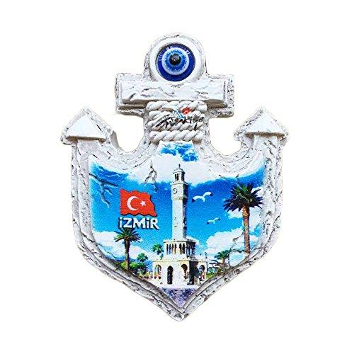 3D-Kühlschrankmagnet Izmir Türkei Kunak Uhr Turm-Stil Reiseaufkleber Souvenir Zuhause & Küche Dekoration Türkei Kühlschrankmagnet