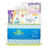 Johnson's Bath Discovery Baby Gift Set, Baby Bath Time Essentials for Parents-to-Be, 7 Items
