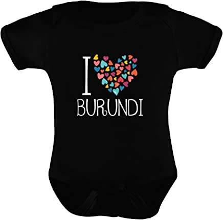 Idakoos I love Burundi colorful hearts - Paises - Enterizo de bebe
