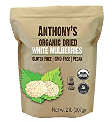 USDA Certified 100% Organic White Mulberries Sun Dried, White in Color with no added Sugars or additives Batch Tested and Verified Gluten-Free Sulphur Dioxide Free, Vegan Friendly, NON-GMO & More Imported from Turkey & Comes in Resealable Pouch