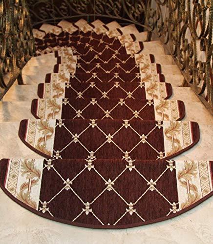 Oanzryybz di Alta qualità Moquette pedate rug Pad (Set di 5), Stair tappetini Stuoie, Antiscivolo Autoadesivo Colla Continentale Gratuita Staircase Mat (Color : A, Size : 100 * 24cm/5)
