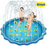 Bluefish Splash Pad, 68 Inches Splash Play Mat Outdoor Water Play Sprinklers Summer