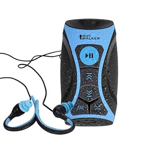 HIFI WALKER Swimbuds - Auriculares Deportivos y Reproductor de MP3 de 8 GB Resistente al Agua con función Shuffle