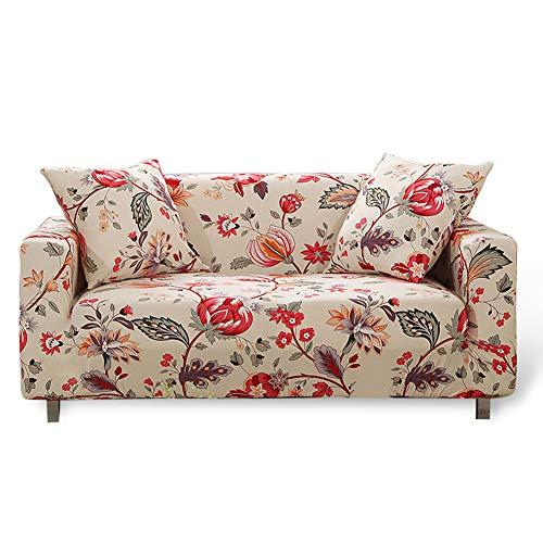 HOTNIU Funda Sofa 3 Plazas (175-220 cm) Elastica, Cubre/Protector Sofá Ajustables Estampado, Fundas Decorativas para Sofas Antideslizante, Cubierta Sofa Muebles con Cuerda de Fijación, Modelo #QAN