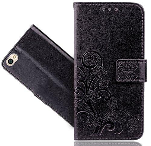Xiaomi Redmi Note 5A / Note 5A Prime Handy Tasche, FoneExpert® Wallet Hülle Cover Flower Hüllen Etui Hülle Ledertasche Lederhülle Schutzhülle Für Xiaomi Redmi Note 5A / Note 5A Prime