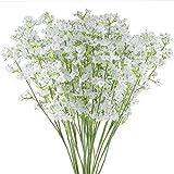 Ahsado 20 flores artificiales para el aliento de bebés, 40,6 cm Gypsophila real Touch flores de seda falsas para bodas, fiestas, decoración del hogar, jardín, mesa de bricolaje