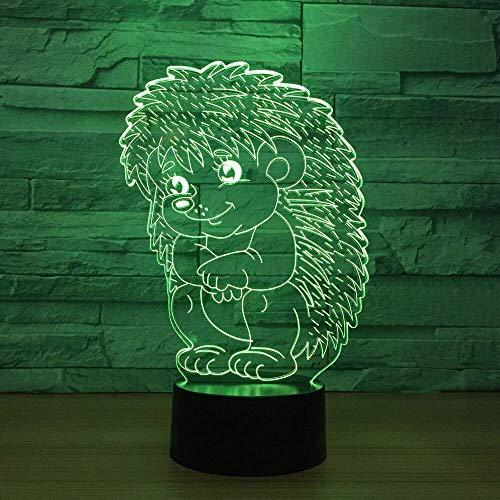 AI LI WEI Veilleuse, LED Night Light Cartoon 7 Couleurs USB Hedgehog bébé Modeling Bouton Tactile Lampe de Table de Chevet bébé d'appareils d'éclairage Home Décor