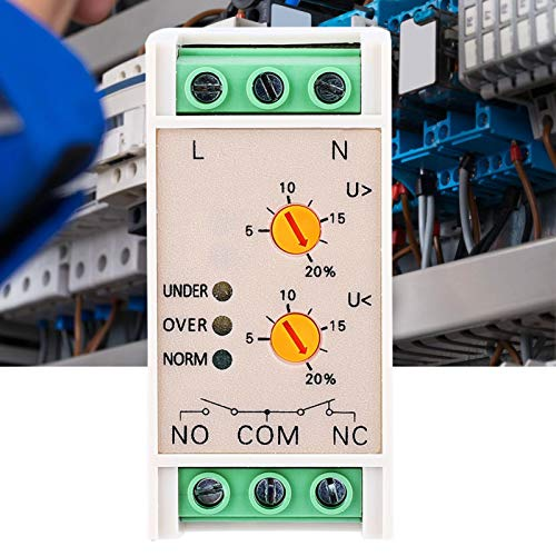 Voltage Monitoring Undervoltage/Overvoltage Protection Voltage Protective Device SVR-220W 3 Indicators Power Monitoring Relay for Building Electronics Projects