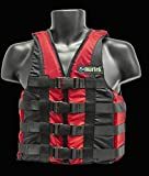 Kayak Ski Classic Buoyancy Aid 50N Impact Jacket Pfd Vest (Red, L 60/70kg)