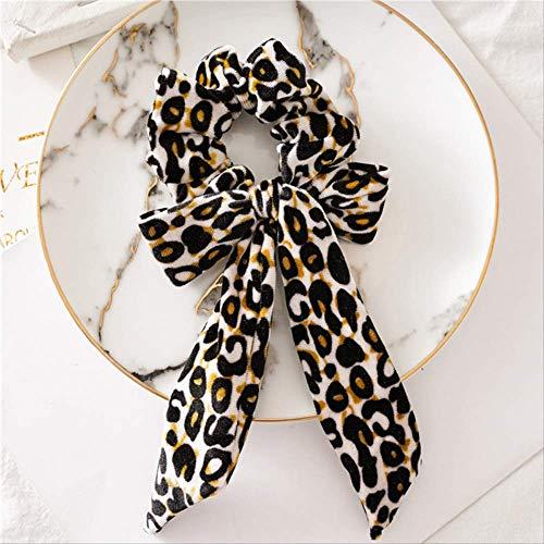 Nueva moda mujer leopardo arco correas de pelo Elastic Loop Ponytail Ties Scrunchies Cabeza Bandas Cabeza llevar accesorios para el cabello