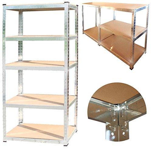 350 kg Steckregal + kostenloser Versand / 5 Böden Kellerregal Lagerregal 170x75x30 cm Werkstatt-Regal