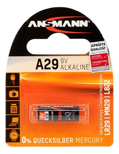 ANSMANN A29 (9V) Alkaline Batterie (LR29, MN29, L822, 9V) für Garagentoröffner, Alarmanlage, Funkauslöser für Kamera, Messgeräte, Klingel usw.
