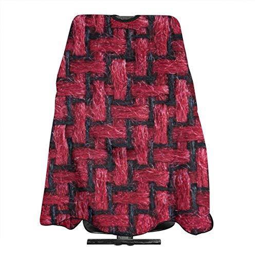Tablier De Coupe De Cheveux Tissu Tissé Noir Et Rouge Professionnel Coiffeur Cape Salon Adulte Maison Teinture Tissu Coiffeur Tablier Cheveux Coupe Cape Polyester Réutilisable Jol