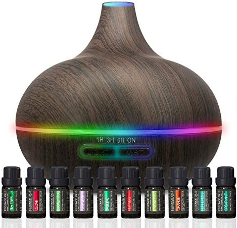 Ultimate Aromatherapy Diffuser Essential Oil Set Ultrasonic Diffuser Top 10 Essential Oils 300ml product image