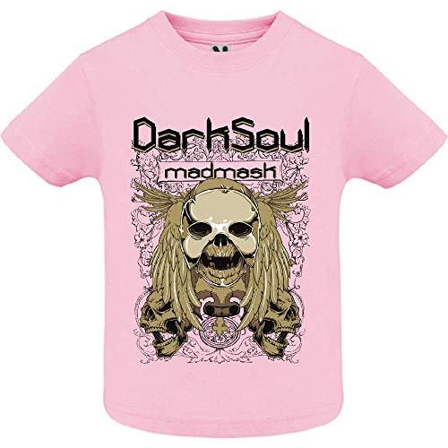 LookMyKase T-Shirt - Dark Soul - Bébé Fille - Rose - 2ans