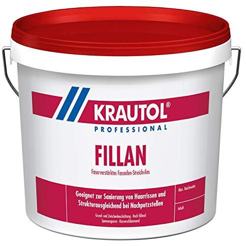 KRAUTOL Fassadenfarbe Fillan faserverstärkendes Fassaden-Streichvlies weiß, 2,5 kg