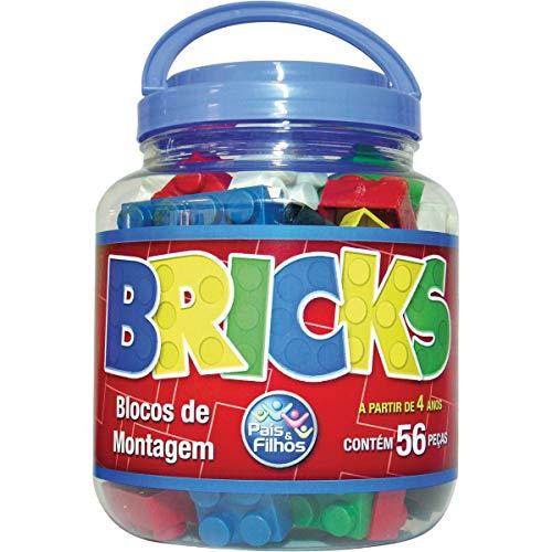 Pais & Filhos Bricks Blocos de Montar Pais e Filhos, Preto, 56 Peças