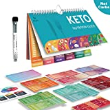 Keto Cheat Sheet Magnets,Keto Chart Incl. a 16-Page Keto List of 262 Foods & Drinks,Easy Keto Guide,Large-Font Keto Sheet,Keto Products,Keto Magnets with 1 Fridge Magnetic Dry-Erase Board & 1 Marker