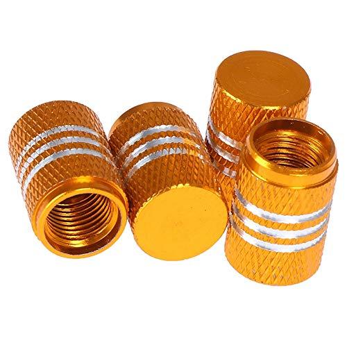 4pc / set de la aleación de moda antirrobo de la aleación de la válvula de la válvula de la válvula de los neumáticos de los neumáticos del neumático del tallo de la tapa de la tapa de aire de la tapa