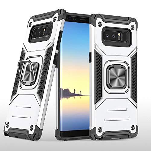 COOVY® Funda para Samsung Galaxy Note 8 SM-N950 / SM-N950F / SM-N950FD Carcasa de PC + Silicona TPU + PC, Protección extrafuerte, función Atril, Anillo de Soporte y Soporte magnético   Lata